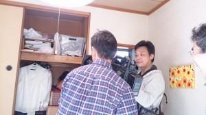 広島テレビの「テレビ派」の取材中